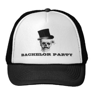 Steampunk gothic bachelor party trucker hat
