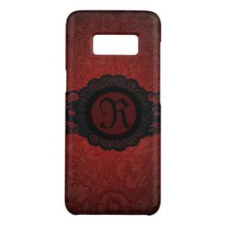 steampunk gothic victorian red black lace monogram Case-Mate samsung galaxy s8 case