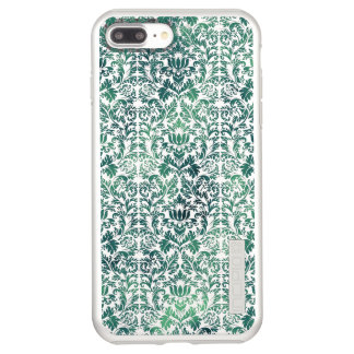 Steampunk Green Damask Distressed Floral Victorian Incipio DualPro Shine iPhone 8 Plus/7 Plus Case