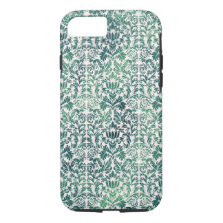 Steampunk Green Damask Distressed Floral Victorian iPhone 8/7 Case