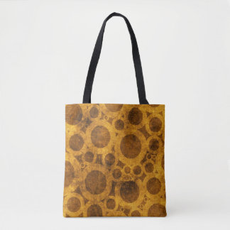 Steampunk Grunge Brown and Gold Tote Bag