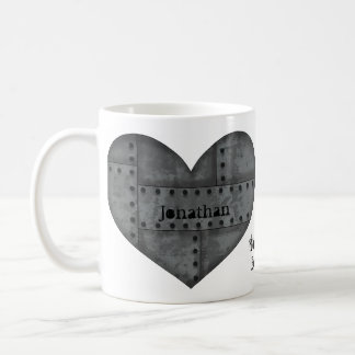 Steampunk heart for lovers coffee mug