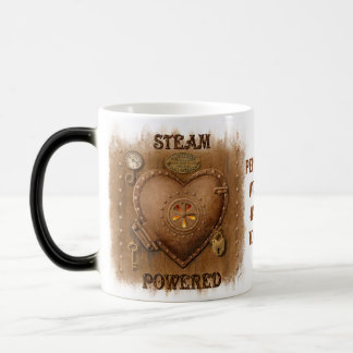 Steampunk Heart Personalized Magic Mug