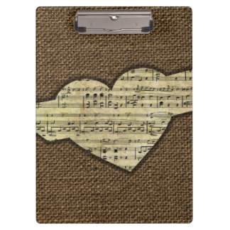 Steampunk Heart Wings Victorian Music Sheet Clipboards