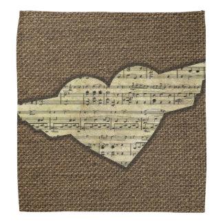 Steampunk Heart Wings Victorian Music Sheet Kerchiefs