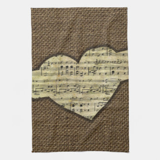 Steampunk Heart Wings Victorian Music Sheet Towels