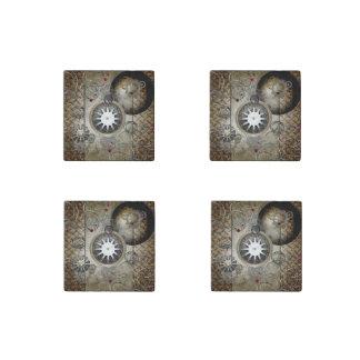 Steampunk, horloges et vitesses magnet en pierre