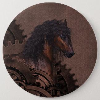 Steampunk Horse 6 Inch Round Button