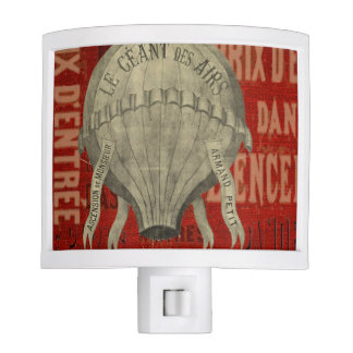 Steampunk Hot Air Ballon Ride Graphic Fonts in Red Nite Lite