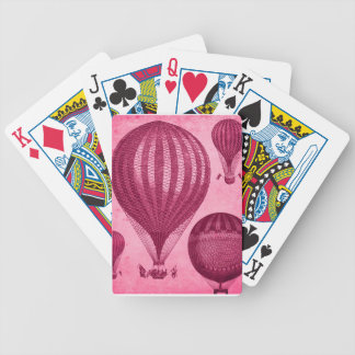 Steampunk Hot Air Balloon Antique Vintage Bicycle Playing Cards