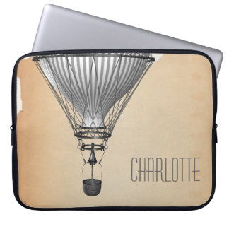 Steampunk Hot Air Balloon Laptop Sleeve