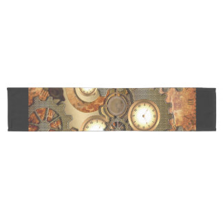 Steampunk in golden colors short table runner