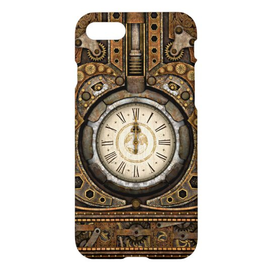 Steampunk Infernal Vintage Time Machine iPhone 7 Case