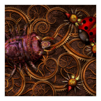 Steampunk - insecte - araignées bitsy d Itsy Posters