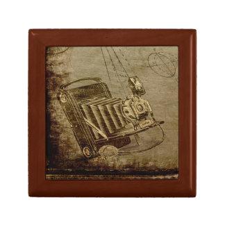 Steampunk Jewelry Box with Antique Camera
