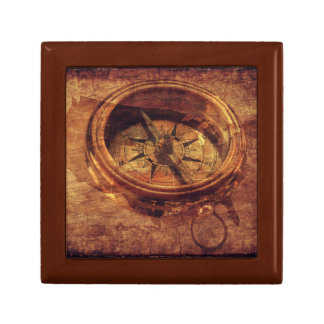 Steampunk Jewelry Box with Compass