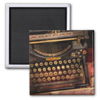 Steampunk - Just an ordinary typewriter Square Magnet