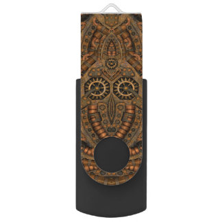 Steampunk Kaleidoscope Flash Drive