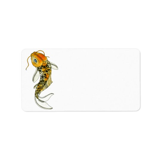 Steampunk Koi Address Label