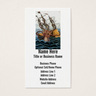 Steampunk Kraken Giant Octopus Nautical Business Card