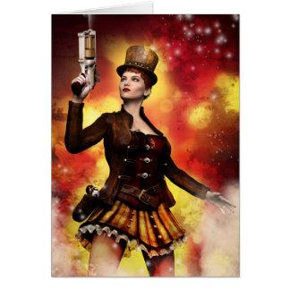Steampunk Lady Card