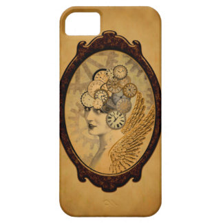 Steampunk Lady, Wings and Clock Faces iPhone 5 Covers