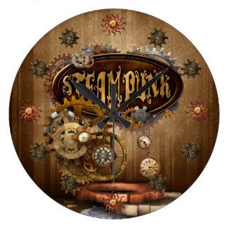 Steampunk Large Clock