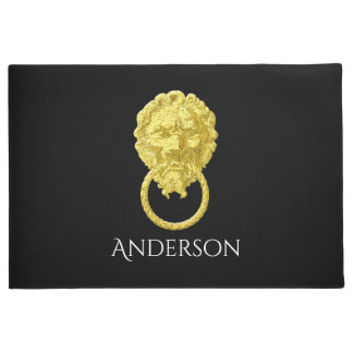 Steampunk Lion Your Background Color Doormat