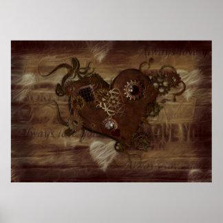Steampunk Love Poster