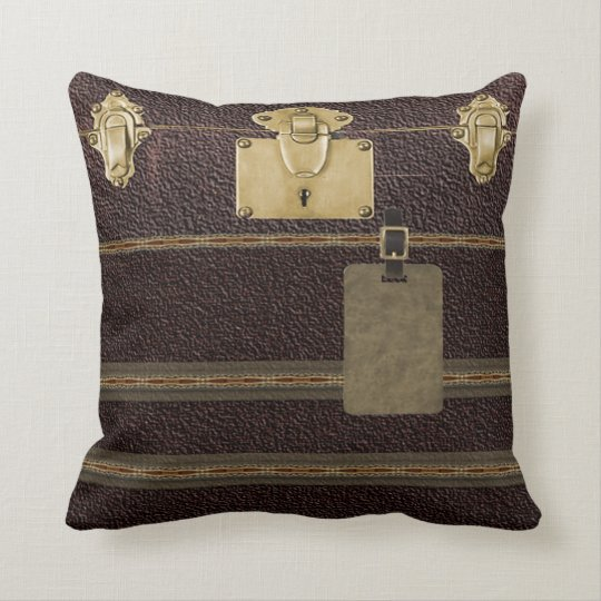 Steampunk luggage pillow
