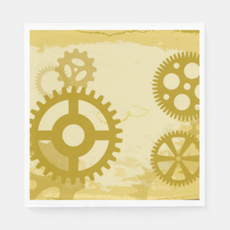 Steampunk Luncheon Paper Napkins