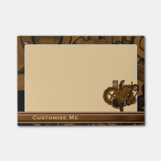 Steampunk Machinery (Copper ) Post-it® Notes