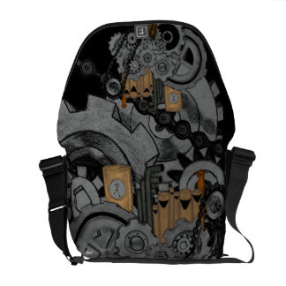 Steampunk Machinery Courier Bag