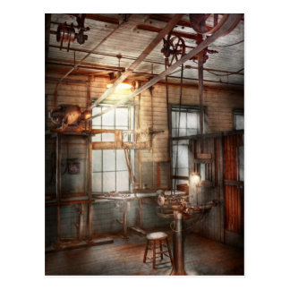 Steampunk - Machinist - The grinding station Postcard