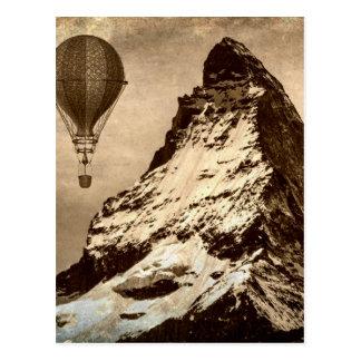 Steampunk Matterhorn Postcard