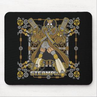 Steampunk Mechanical Cowboy Mouse Pad