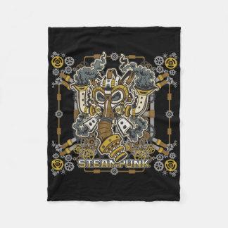 Steampunk Mechanical Gas Mask Fleece Blanket