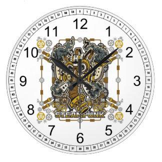 Steampunk Mechanical Gas Mask Large Clock