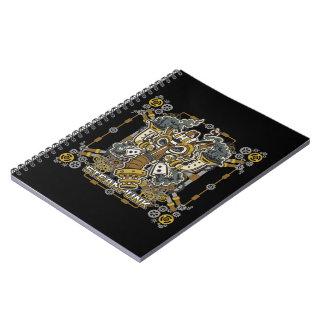 Steampunk Mechanical Gas Mask Spiral Notebook
