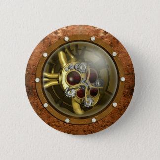 Steampunk Mechanical Heart 2 Inch Round Button