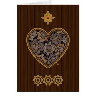 Steampunk Mechanical Heart Greeting Card