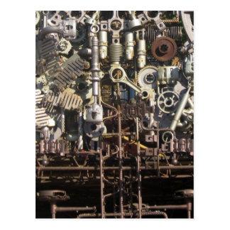 Steampunk mechanical machinery machines postcard