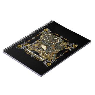 Steampunk Mechanical Owl Notebook