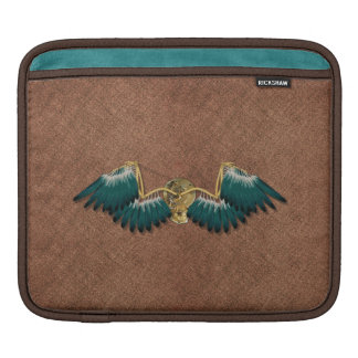 Steampunk Mechanical Wings Brown iPad Sleeve