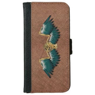 Steampunk Mechanical Wings Brown iPhone 6 Wallet Case