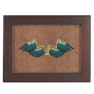 Steampunk Mechanical Wings Brown Keepsake Box
