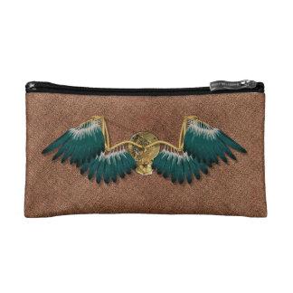 Steampunk Mechanical Wings Brown Makeup Bag