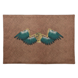 Steampunk Mechanical Wings Brown Placemat