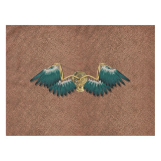 Steampunk Mechanical Wings Brown Tablecloth