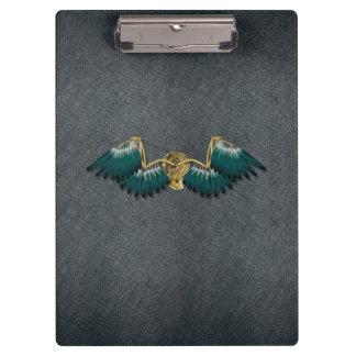 Steampunk Mechanical Wings Grey Clipboard